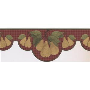 Norwall Pears on Vines Wallpaper - Brown/Beige