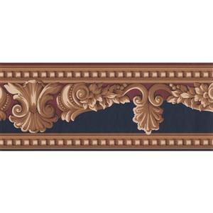 Retro Art Victorian Wallpaper Border - Beige/Brown