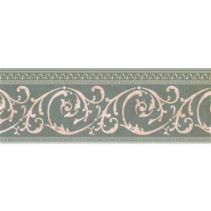 Retro Art Sepia Damask Rolls and Vines Wallpaper