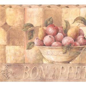 Retro Art Fruits in Bowl Wallpaper Border