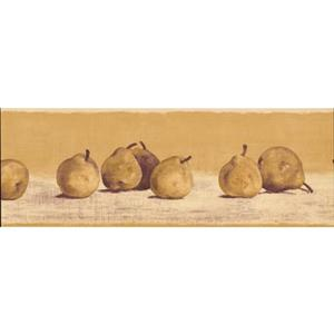 Retro Art Pears on Merigold Wallpaper - Beige