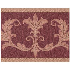 Retro Art Abstract Damask Vines Wallpaper - Beige