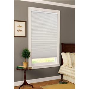 "allen + roth Blackout Cellular Shade - 25"" x 72"" - Polyester - White"