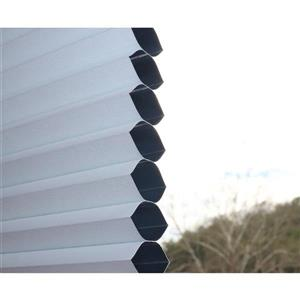 """allen + roth Blackout Cellular Shade - 60.5"""" x 64"""" - Polyester - White"""