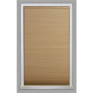 "allen + roth Blackout Cellular Shade- 64.5"" x 72""- Polyester- Khaki/White"