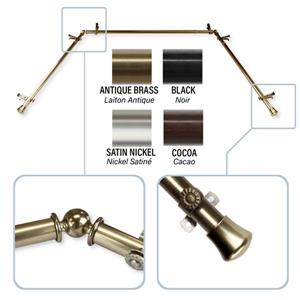 Rod Desyne Bay Window Curtain Rod - 0.81-in - Brass