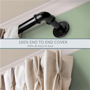 Rod Desyne Curtain Rod - 48-in to 84-in - Stainless Steel - Black
