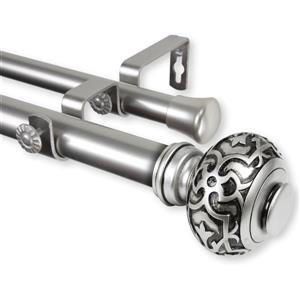 Rod Desyne Maple Double Curtain Rod - 120-in to 170-in - Nickel