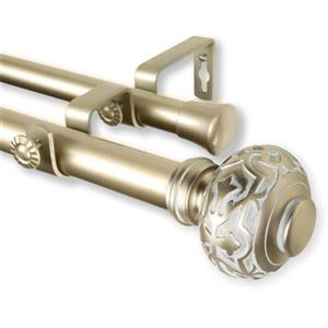Rod Desyne Maple Double Curtain Rod - 28-in to 48-in - Gold