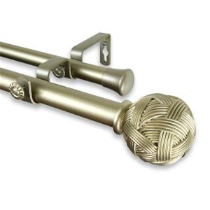 Rod Desyne Twine Double Curtain Rod - 48-in to 84-in - Gold