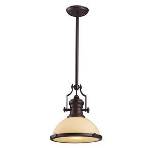 ELK Lighting Chadwick Pendant Light - 1-Light - Oiled Bronze