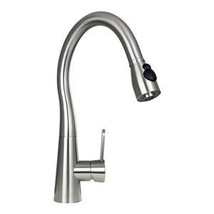 """BOANN Sophia Kitchen Faucet - 16.75"""" - Stainless Steel"""