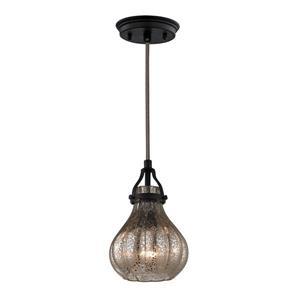 ELK Lighting Danica Mini Pendant Light - 1-Light - Oil Rubbed Bronze
