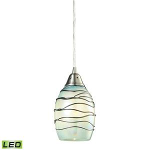 ELK Lighting Vines Mini Pendant Light - 1-LED Light - Satin Nickel