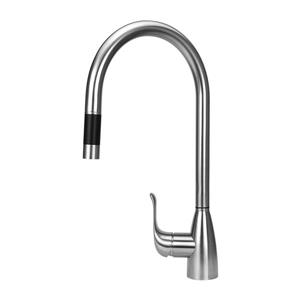 """BOANN Chloe Pull-Out Kitchen Faucet - 16.7"""" - Stainless Steel"""