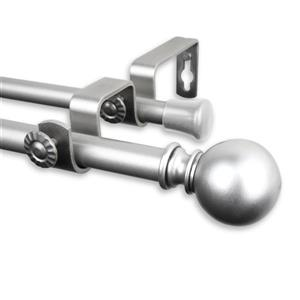 Rod Desyne Luna Double Curtain Rod - 48-84-in- 5/8-in- Nickel