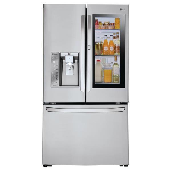 LG 23.5-cu ft 3-Door Counter-Depth French Door LFXC24796S