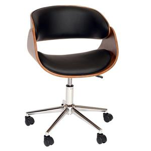 "Armen Living Julian Office Chair - 23"" x 33"" - Polyurethane - Black"
