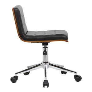 "Armen Living Bowie Office Chair - 15"" x 31"" - Polyurethane - Black"