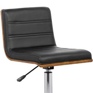 "Armen Living Bowie Office Chair - 15"" x 31"" - Polyurethane - Black"