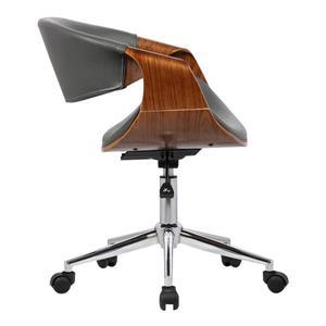 "Armen Living Geneva Office Chair - 19"" x 33"" - Polyurethane - Gray"