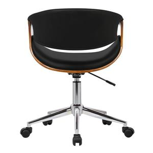 "Armen Living Geneva Office Chair - 19"" x 33"" - Polyurethane - Black"