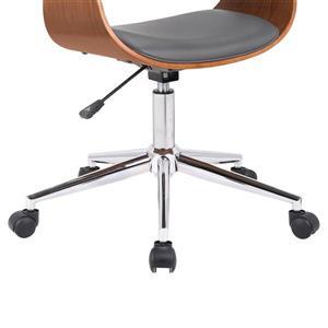"Armen Living Bellevue Office Chair - 18"" x 33"" - Polyurethane - Gray"