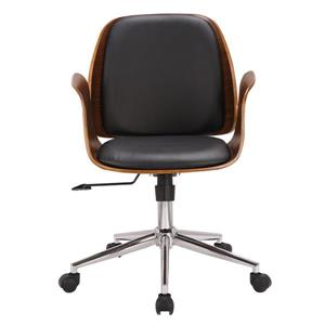 "Armen Living Santiago Office Chair - 17"" x 38"" - Polyurethane - Black"