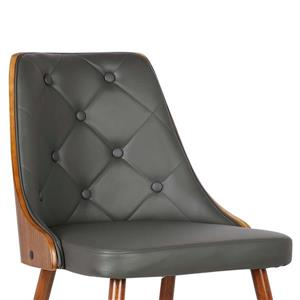 "Armen Living Lily Dining Chair - 31"" x 20"" - Faux leather ..."