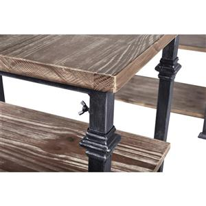 "Armen Living Liam Desk - 91.5"" x 30"" - Wood - Gray"