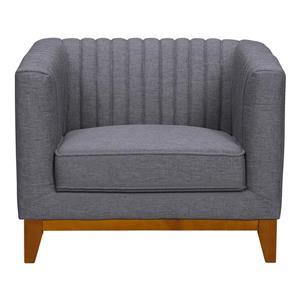 "Armen Living Prism Sofa Chair - 35.5"" - Polyester - Gray"