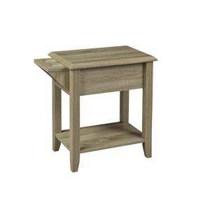 "Brassex Telephone Stand with Drawer - 24"" - Wood - Dark Taupe"