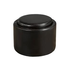 """Brassex Storage Ottoman with Tray - 18"""" x 14"""" - Espresso"""
