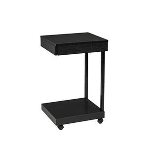Brassex Laptop Stand with Castors - Black