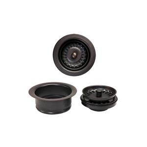 Premier Copper Products Drain Combo Package for Double Bowl Kitchen Sinks - ORB