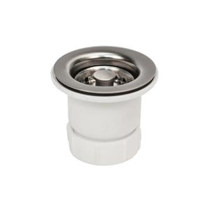 Premier Copper Products 2-in Bar Basket Strainer Drain - Brushed Nickel