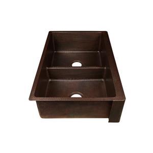 Premier Copper Kitchen Sink with Divider - 33-in
