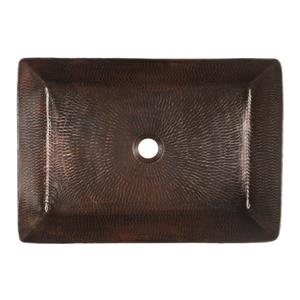 Premier Copper Products Rectangular Copper Sink with Faucet and Drain