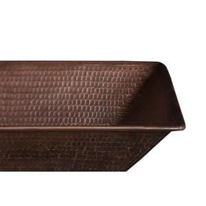 Premier Copper Products Rectangular Copper Sink with Faucet & Drain - 17-in