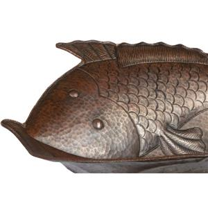 Premier Copper Products Fish Copper Sink with Faucet and Drain