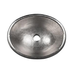 Premier Copper Products Oval Sink - 17-in- Nickel