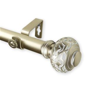 Rod Desyne Maple Curtain Rod - 160-240-in - 1-in - Gold