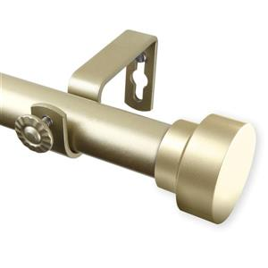 Rod Desyne Bonnet Curtain Rod - 120-170-in - 1-in - Gold
