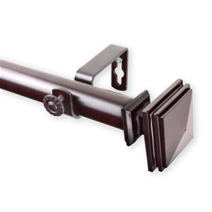 Rod Desyne Bedpost Curtain Rod - 28-48-in - 1-in - Mahogany