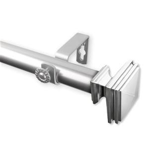 Rod Desyne Bedpost Curtain Rod - 28-48-in - 1-in - Nickel