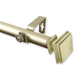 Rod Desyne Bedpost Curtain Rod - 120-170-in - 1-in - Gold