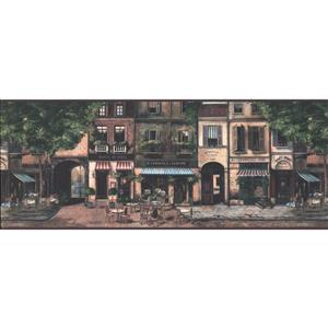 York Wallcoverings Vintage Paris Street Wallpaper
