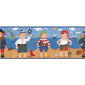 York Wallcoverings Kids Pirates and Sailboats Wallpaper Border
