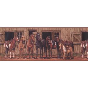 York Wallcoverings Retro Horses and Stables Wallpaper Border