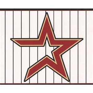 York Wallcoverings Houston Astros MLB Baseball Wallpaper Border